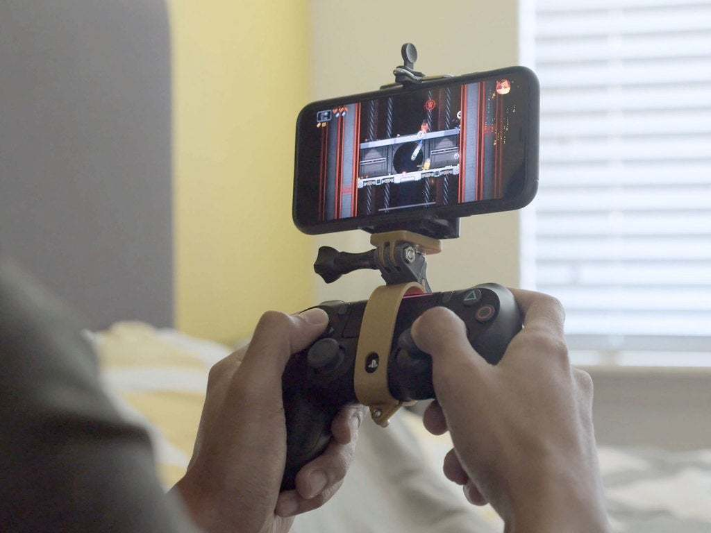 hero-phone.jpg Download free STL file PS4 Display Tripod Mount • Template to 3D print, Adafruit