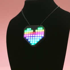 Download free STL file NeoPixel LED Heart Necklace • 3D printable model, Adafruit