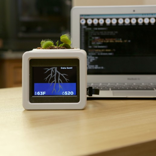 hero-plant-python.jpg Download free STL file Smart IOT Pet Planter • Template to 3D print, Adafruit