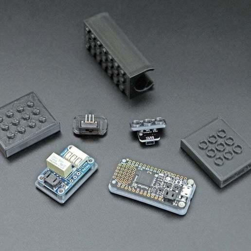 componentsB.jpg Download free STL file STEMMA Lego Base Plate • 3D printable model, Adafruit