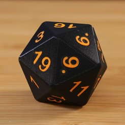 Free Dual D20 3D model, Adafruit