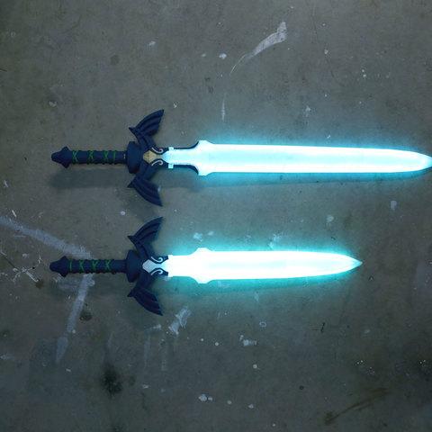 hero-sword-size.jpg Télécharger fichier STL gratuit LED Zelda Master • Modèle pour imprimante 3D, Adafruit