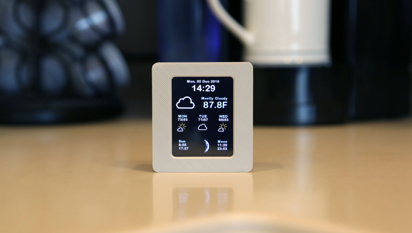 Capture d'écran 2016-12-07 à 17.28.03.png Download free STL file ESP8266 WiFi Weather Station with Color TFT Display • Template to 3D print, Adafruit
