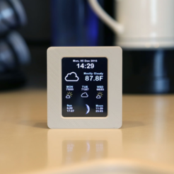 Free 3D print files ESP8266 WiFi Weather Station with Color TFT Display, Adafruit