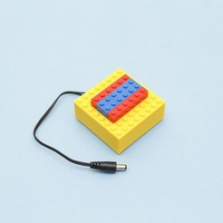 Free 3d print files LEGO Compatible Battery Case, Adafruit