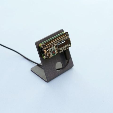 stand-Pi.jpg Download free STL file Raspberry Pi Zero Stand • 3D printing object, Adafruit