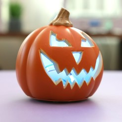 Download free 3D printing models Talking Pumpkin with Lights and Sounds, Adafruit