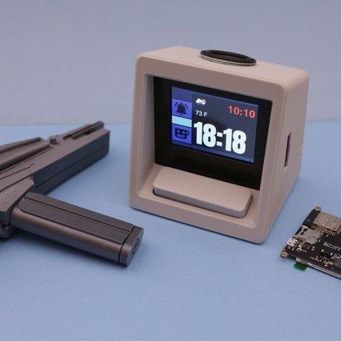 Download free 3D printing designs Star Trek Alarm Clock - Adafruit PyPortal, Adafruit