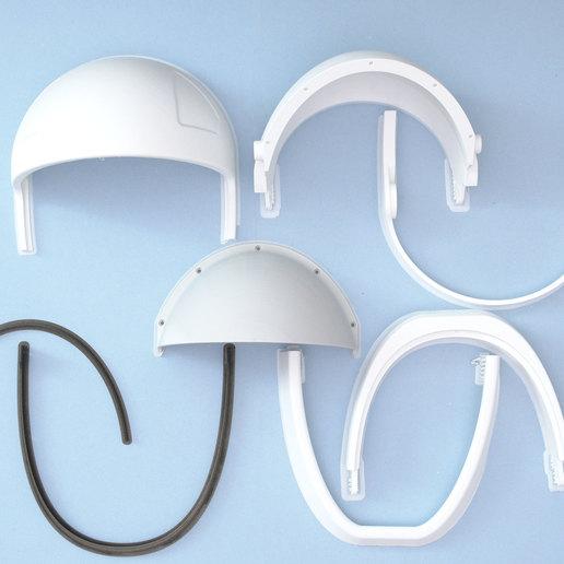 3d-parts.jpg Télécharger fichier STL gratuit Visière de casque SpaceX • Objet pour impression 3D, Adafruit