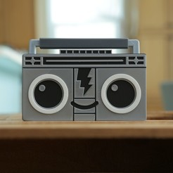 Download free STL file Boomy The BoomBox • 3D print design, Adafruit