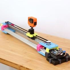 Download free 3D printer designs CircuitPython Camera Slider, Adafruit
