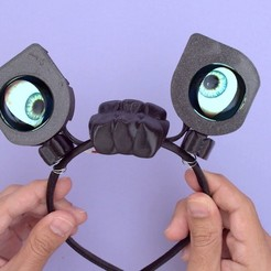 Download free STL file Antenna Eyes - Monster M4sk • 3D printable model, Adafruit