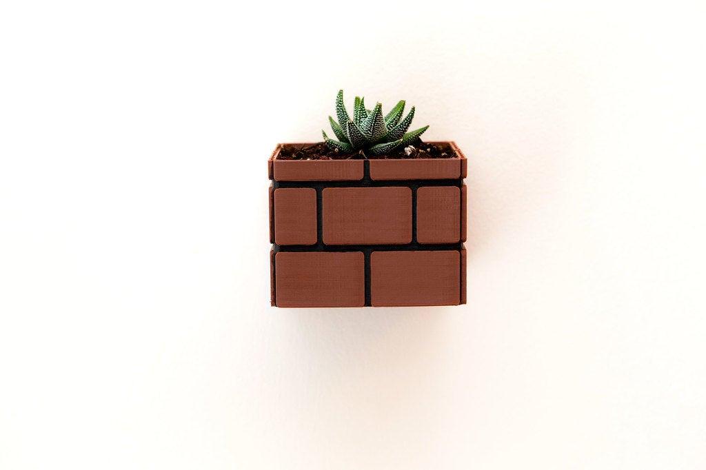 7014824a73ba9e48258e1fdd40c56fdc_display_large.jpg Download free STL file Mario Brick Planter • 3D print design, Adafruit