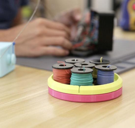 Capture d'écran 2018-02-22 à 11.13.25.png Download free STL file Wire Spool Holder Carousel • Model to 3D print, Adafruit