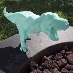 Download STL Low-poly t-rex, Adafruit