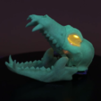 Free stl files BONEHEADS: Wolf Skull & Jaw Bone - PROMO - 3DKITBASH.COM, Adafruit