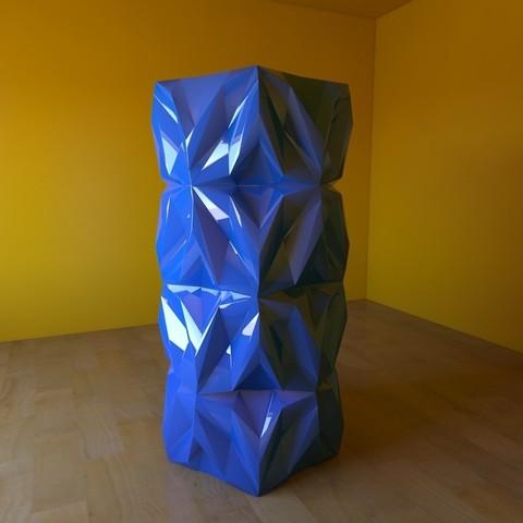 07.jpg Download free STL file Geometric Vase • 3D printable object, tridimagina
