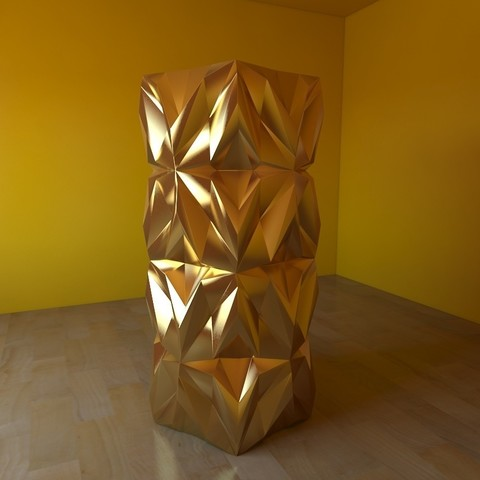 09.jpg Download free STL file Geometric Vase • 3D printable object, tridimagina