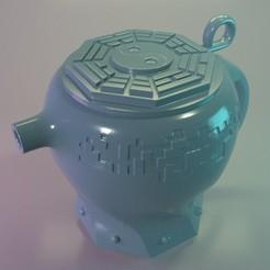 tetera08.jpg Download STL file chinesse teapot • 3D print object, tridimagina