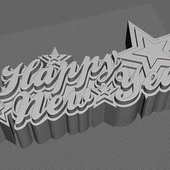 happynewyear.jpg Download STL file Happy new year • 3D printer model, tridimagina