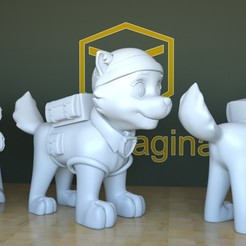 Download 3D printing models Everest PawPatrol, tridimagina
