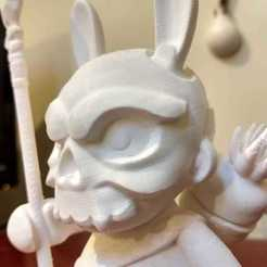 Download STL file SkullBunnyWarrior (munny), tridimagina