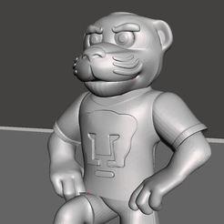 goyo0.jpg Download STL file Mascota Pumas Goyo • 3D printable design, tridimagina