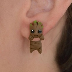 Download STL file ear ring baby root guardian, tridimagina