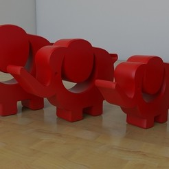 Free 3D printer files Elephants, tridimagina