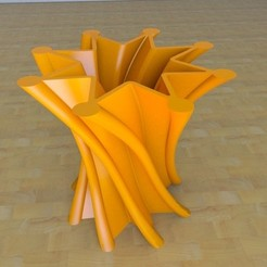Free 3D printer file twist Star Vase, tridimagina
