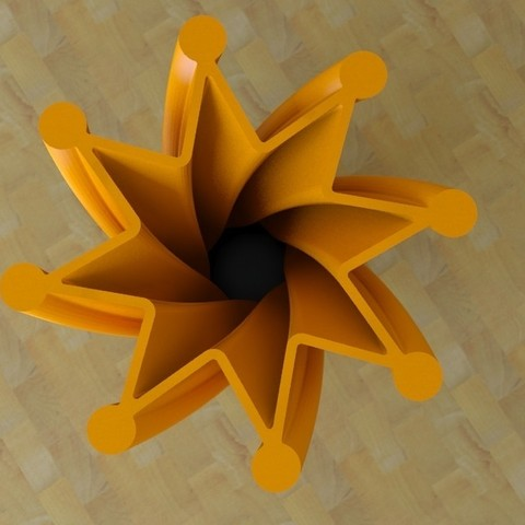 vase1-03.jpg Download free STL file twist Star Vase • Model to 3D print, tridimagina