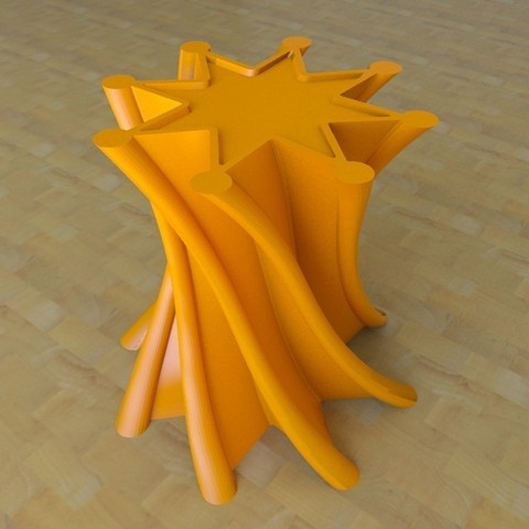 vase1-04.jpg Download free STL file twist Star Vase • Model to 3D print, tridimagina