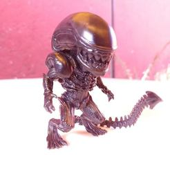 01.jpg Download STL file xenomorph Chibi - Alien • 3D printer model, tridimagina