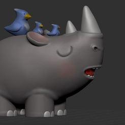 heavy05.jpg Download STL file Sculptember 02 - Baby Rinho • 3D printable model, tridimagina