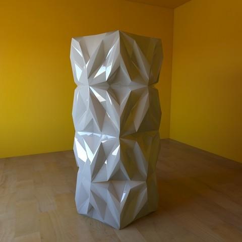 08.jpg Download free STL file Geometric Vase • 3D printable object, tridimagina