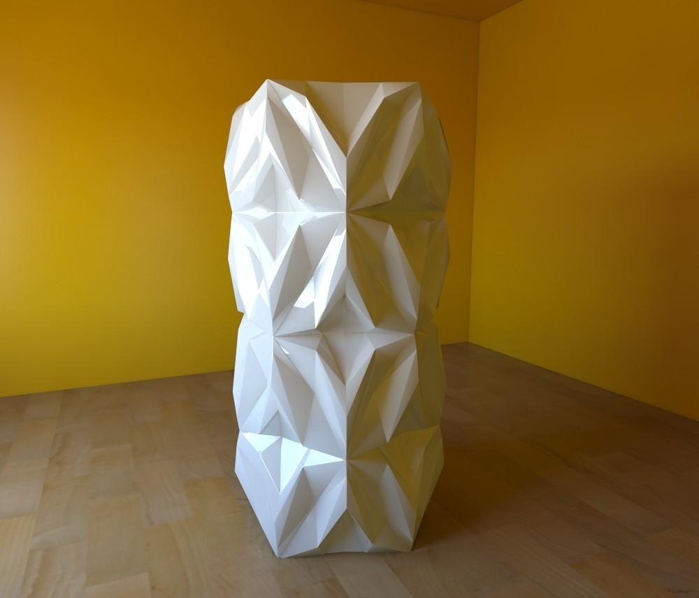 03.jpg Download free STL file Geometric Vase • 3D printable object, tridimagina