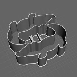 cocodrile sandwich cuter01.jpg Download STL file crocodile sandwich cutter • Model to 3D print, tridimagina