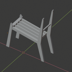 View-1.PNG Download STL file Book storage chair • 3D print object, MiniFabrikam