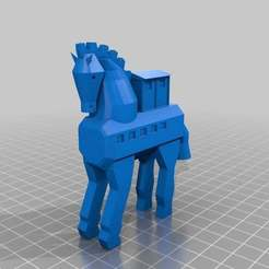 Download free STL file Troy horse • 3D printing design, MiniFabrikam