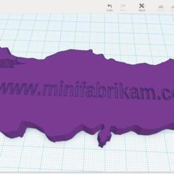Télécharger plan imprimante 3D gatuit Carte de la Turquie, MiniFabrikam
