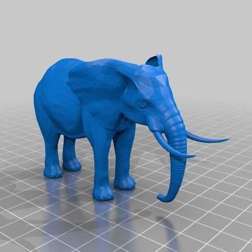 Download free 3DS file Elephant figurine • 3D printer design, MiniFabrikam