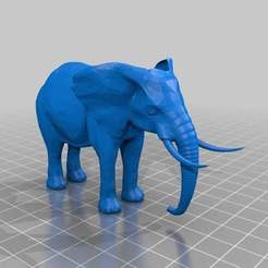 Download free 3DS file Elephant figurine • 3D printer design, MiniFabrikam