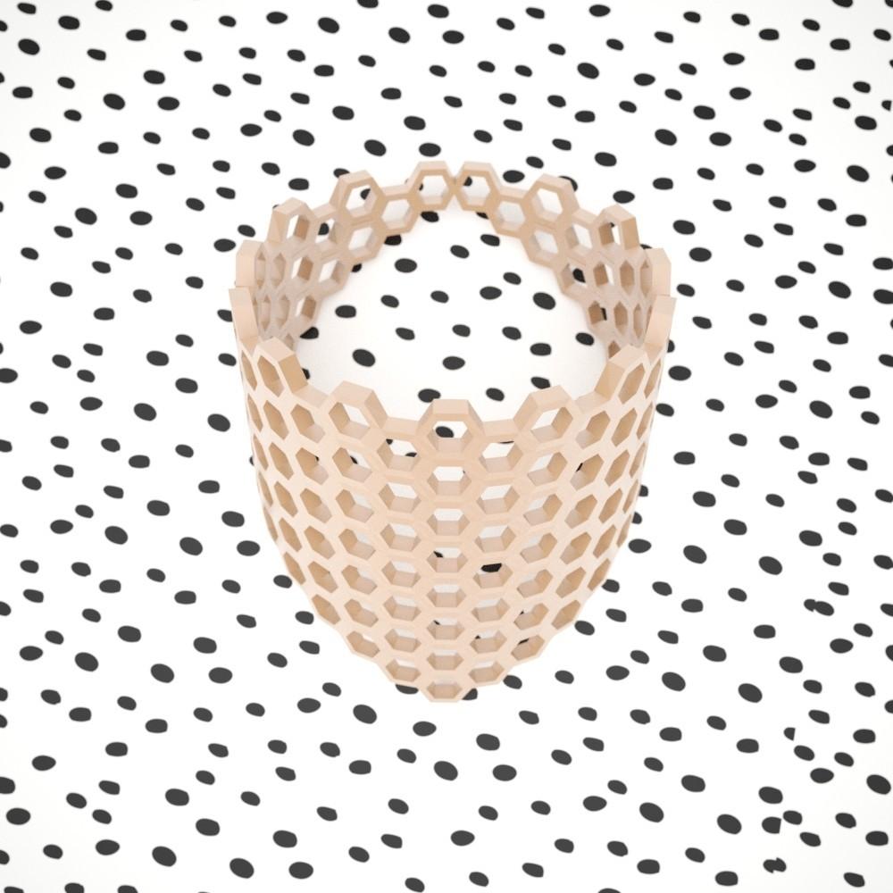 Honey_prev.jpg Download free STL file Oh Honey Bracelet • Model to 3D print, sucmuc