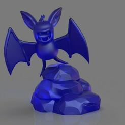 untitled.299.jpg Télécharger fichier STL Pokemon Zubat • Objet à imprimer en 3D, PaburoVIII