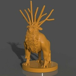 untitled.315.jpg Download STL file Deer God • 3D printable object, PaburoVIII