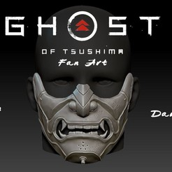 Preview.jpg Télécharger fichier STL Masque Sakai Fantôme du masque Tsushima • Plan imprimable en 3D, PaburoVIII