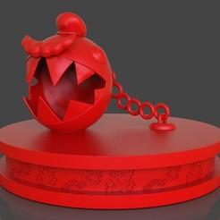 untitled.48.jpg Download STL file Mario Chomp from Super Mario Odyssey • 3D printer design, PaburoVIII