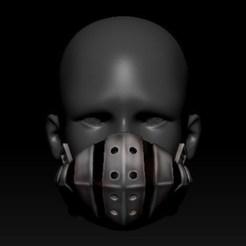 01.jpg Download OBJ file Quarantine Mask Izuku Deku Mask Style • 3D printable object, PaburoVIII