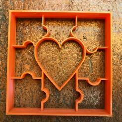 dc62135f-bda7-4817-aa67-e2de607b399e.jpg Download STL file Love Puzzle Cookie Cutter • 3D print design, PaburoVIII