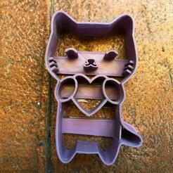 46905c34-fd8b-4773-b647-b913f2516587.jpg Download STL file Lovely Cat Cookie Cutter • Model to 3D print, PaburoVIII